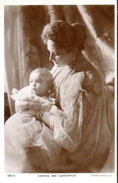 Czarina Alexandra with her son Alexej