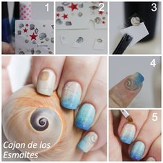 Tutorial - Beach nails with water decals  #nailart #summer #beach