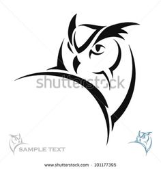 Owl portrait - vector by Petrovic Igor, via Shutterstock Owl Stencil, Stencil Patterns, Owl Tattoo Drawings, Bird Drawings, Buho Logo, Portrait Vector, Tattoo Templates, Painted Driftwood, Owl Logo
