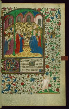 Book of Hours Pentecost/All saints Walters Manuscript W.269 fol. 87r by Walters Art Museum Illuminated Manuscripts