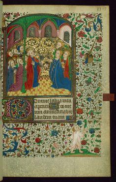 Book of Hours Pentecost/All saints Walters Manuscript W.269 fol. 87r by Walters Art Museum Illuminated Manuscripts