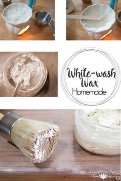 How to make white-wash wax, liming wax, or pickling wax. I also made wax in red and turquoise. | Country Design Style | countrydesignstyle.com