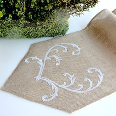 Hey, I found this really awesome Etsy listing at https://www.etsy.com/listing/221880008/romantic-silver-wedding-table-runner