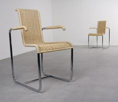 2 D20 arm chairs from the eighties by unknown designer for Tecta