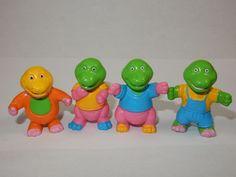 "SOMA 1993 Love Dino 1 3/4"" Figurines RARE #Soma Cake Toppers"