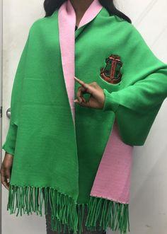 Alpha Kappa Alpha Shawl – Greek Apparel and Aka Sorority Gifts, Sorority Fashion, Alpha Kappa Alpha Sorority, Sorority Outfits, Sorority Life, Aka Apparel, Alpha Kappa Alpha Paraphernalia, Dress Attire, Greek Clothing