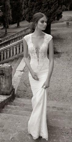 Sexy Laced neckline vintage wedding dress. Drop dead gorgeous.