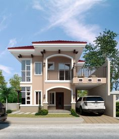 Salones Top 5 Luxury Exterior Design Concepts – Amazing Architecture Magazine How To Choose A Tool B Two Story House Design, 2 Storey House Design, Simple House Design, Bungalow House Design, House Front Design, Modern House Design, Contemporary Design, Modern Bungalow House, Architectural House Plans