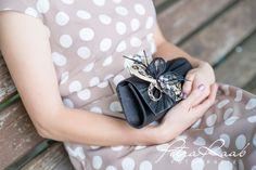 Clutches - Clutch, Hand-/ Brauttasche schwarz,beige,creme - ein Designerstück von Perle-Wismer bei DaWanda