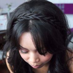 Itsjudytime: Sweet Curls with Braided Hairband Everyday Hairstyles, Pretty Hairstyles, Box Braids Pictures, High Ponytails, Next Fashion, I Feel Pretty, Hair Band, Hair Trends, Beyonce