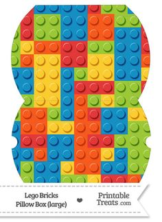Large Lego Bricks Pillow Box--- https://www.pinterest.com/printabletreats/lego-theme-printables/