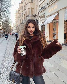 The Kooples, Dominatrix, Fox Fur, Mantel, Winter Outfits, Winter Fashion, Leather Pants, Street Style, Womens Fashion
