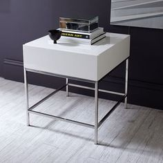 West Elm West Elm Storage Side Table, White Lacquer - Accent Tables - Coffee Tables - End Tables
