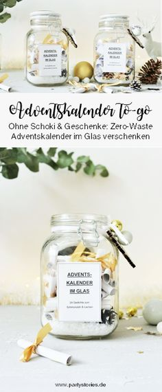 last-minute DIY Adventskalender im Glas, Christmas Crafts For Adults, Christmas Tree, Last Minute, To Go, Diy Projects, Zero, Weihnachten Diy, Blogging, Winter