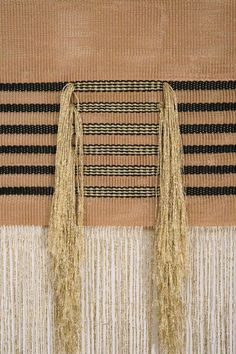blueberrymodern:  native line serpentine wall hanging