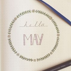My first page of May in my Bullet Journal! :) #bulletjournal #planner…