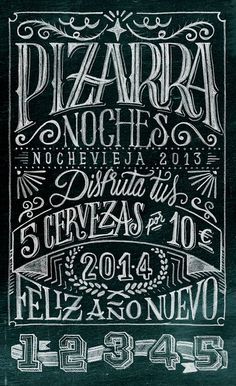 Pizarra Noches on Behance