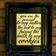 I wanna put this in my kitchen Gold Milk & Cookies Cookie Quotes, Gold Milk, Word Wall Decor, Milk Cookies, Wedding Quotes, Wonderful Things, Great Quotes, Artsy Fartsy, Find Art