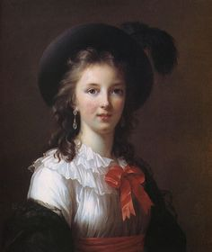Marie Élisabeth Louise Vigée-Lebrun. Recognized as the most famous woman painter of the 18th century. Official portraitist of Marie Antoinette.