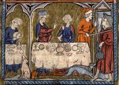 Laurent frère, Somme le Roi (La) (1295), Paris, Bibliothèque Mazarine, Ms.0870, f°179, « Lazare et le mauvais riche »