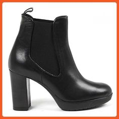40 IT - 10 US V 1969 Italia Womens Ankle Boot S07 VITELLO NERO - Boots for women (*Amazon Partner-Link)
