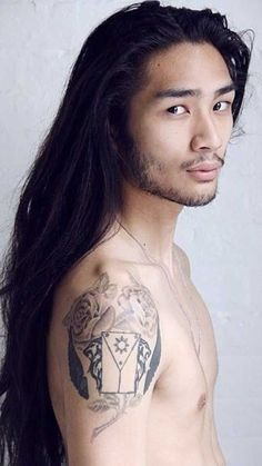 - Japanese - Hair Styles for Asian Men with Long Hair Hair Styles for Asian Men with Long Hair. Pretty People, Beautiful People, Asian Men Fashion, Mens Fashion, Fashion Hair, Fashion Ideas, Asian Men Hairstyle, Male Face, Male Beauty