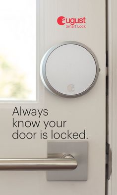 Make your front door smarter with an August Smart Lock Pro + Connect. Go keyless to lock and unlock your door from anywhere with your phone. Give keyless entry to family, friends or even the dog walker. And the lock easily attaches to your existing deadbolt; use your existing key at anytime.