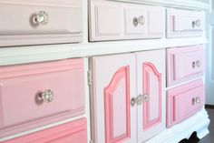 Pink Ombre Dresser/Changing Table