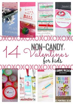 14 Non-Candy Valentine Ideas for Kids. Unique and creative ways to give a Valentine's without using candy.