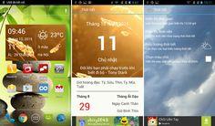 Vietnamese weather widget