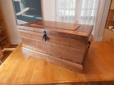 Beautiful Blanket Chest Made From Solid Walnut