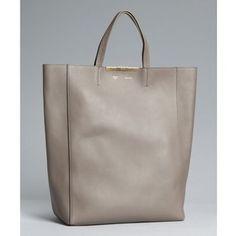 Celine Grey Calfskin 'Cabas' Shopping Tote