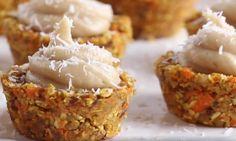Bouchées de gâteau aux carottes, glaçage à l'érable...Une collation hyper santé et sans cuisson!