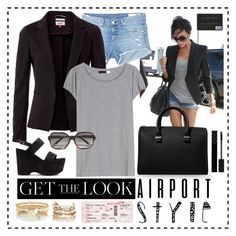 """""""Mrs Beckham - airport style"""" by vacskamati85 ❤ liked on Polyvore featuring Victoria Beckham, rag & bone/JEAN, Tommy Hilfiger, Acne Studios, Panacea, Jada, Yves Saint Laurent, Gucci, River Island and GetTheLook"""