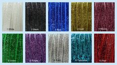 """Glitter elastic, 3/8"""" wide - (select yardage from drop down menu) (other colors may be available but not listed..if you need a specific color that's now showing, ask us)   Makes wonderful headbands. Also useful for trims on stretch items such as T-shirts, swimwear and lingerie.  Please note: The actual color may vary slightly from what you see, due to differences in how monitors display the color.  If you prefer a different color, please leave a note with your order.  More elast..."""