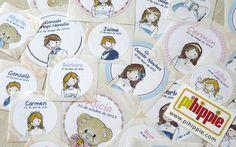 Etiquetas personalizadas comunión, bautizo http://www.pihippie.com/p/regalos.html