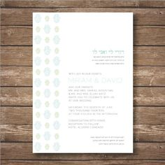 Printable Modern Hamsa Wedding Invitation Suite