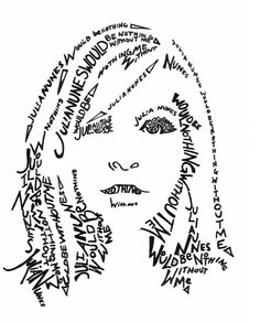 Calligram Self Portrait: Trace the outline of facial