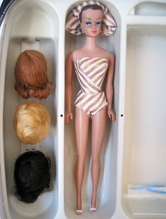 1963 Barbie Fashion Queen... this is the Barbie that I had, she had three wigs one of each hair color.