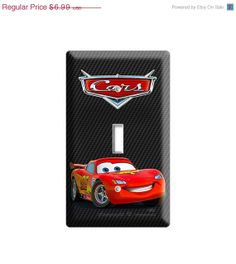 ON SALE NOW new disney cars 2 lightning mcqueen single light switch cover plate