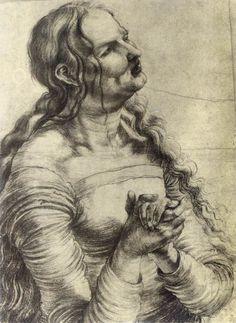 Weeping woman, 1515/14, Matthias Grünewald (Mathis Gothart-Nithart) (1475-1528)
