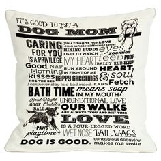 I pinned this Proud To Be A Dog Mom Pillow from the Reigning Cats & Dogs event at Joss and Main!