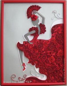 Картина панно рисунок Квиллинг Испанская страсть Бумага Бумажные полосы фото 1