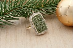 Green diamonds..perfect under a green tree!