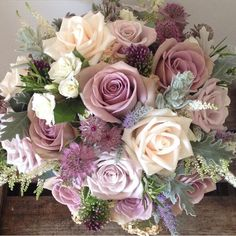 Amnesia rose, mentha rose and vendella rose Amnesia rose, mentha rose and vendella rose Bridal Flowers, Flower Bouquet Wedding, Rose Bouquet, Rose Wedding, Purple Wedding, Floral Wedding, Dream Wedding, Lavender Bouquet, Floral Centerpieces