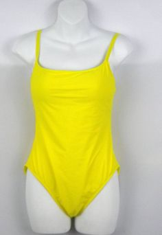 NWOT La Blanca Women's 10 Yellow One Piece Swimsuit Retail $79 #LaBlanca #OnePiece #Yellow #Spring
