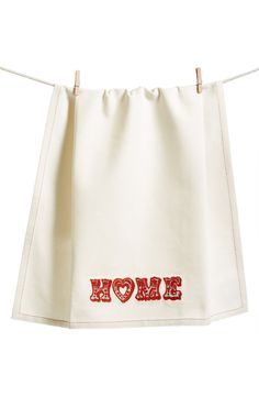 What a great house warming gift! | 'Home Love' Dish Towel