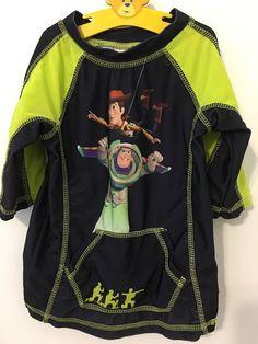 Youth Disney Store Toy Story Buzz Lightyear Woody Swim Shirt Rash Guard Size: 4 #Disney #SwimShirt