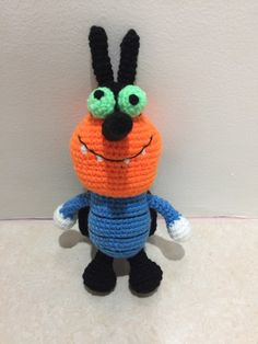 Dee Dee (Oggy and the cockroaches) - free crochet pattern at Emikobleu