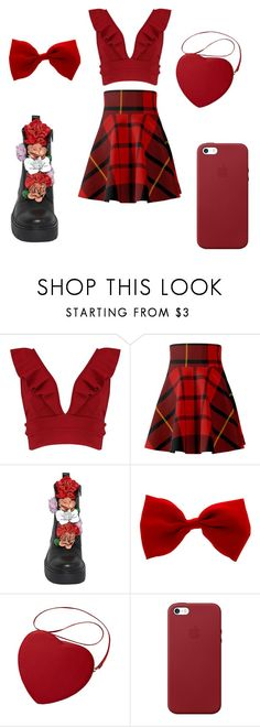 """Red Moon"" by shannonlt ❤ liked on Polyvore featuring Boohoo, Alexander McQueen and Apple"